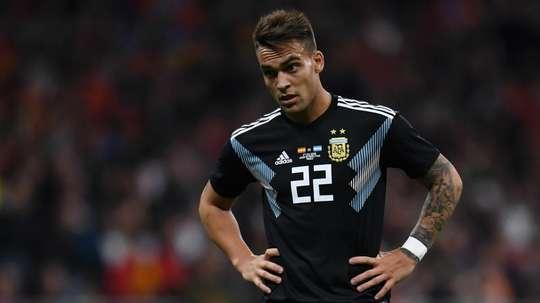 Lautaro Martinez España Argentina Amistoso internacional 27032018. Goal