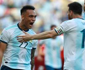 Lautaro Martinez could be playing in the same club team as Messi. GOAL