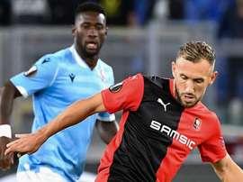 Rennes s'écroule face à la Lazio (1-2). AFP