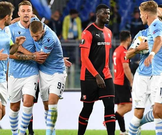 Lazio Rome - Rennes (2-1) - Toutes les réactions. AFP