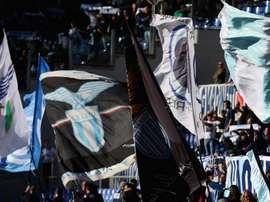 La curva della Lazio all'Olimpico. Goal