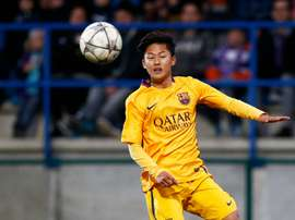 Borussia Dortmund are siad to be tracking Barcelona wonderkid Lee-Seung Woo. GOAL