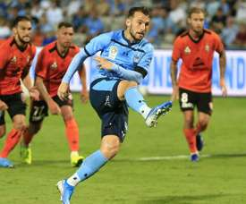 Adam le Fondre scored the only goal of the game in Sydney's victory over Brisbane. GOAL