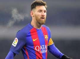 Leo Messi dans le match de Coupe du Roi entre Real Sociedad et Barcelone. AFP