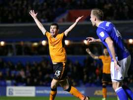 Wolves moved four points clear at the top of the Championship with their win over Birmingham. AFP