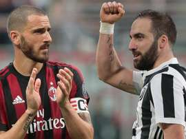Juventus e Milan acertam troca entre Higuaín e Bonucci. Goal