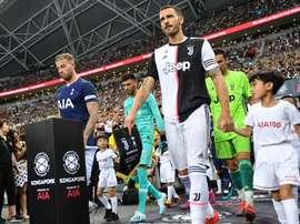 Bonucci, capitano in Champions. AFP