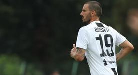 Bonucci ha vissuto Milan-Juve da ex, ma anche dalla panchina. AFP