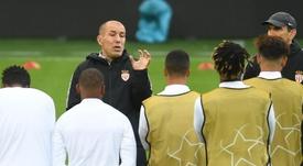 Réunion de crise entre Jardim et ses joueurs. AFP