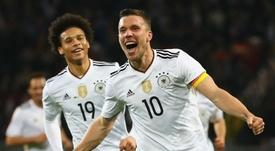 Selon Podolski,  Sané n'a pas encore atteint tout son potentiel. GOAL
