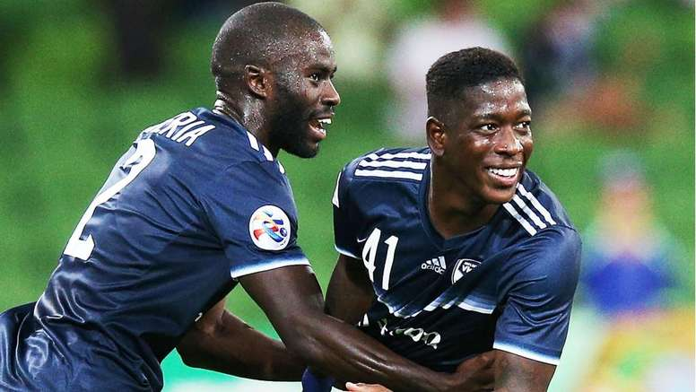 Leroy George scored for hosts Melbourne Victory. GOAL