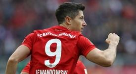 Lewandowski equals Aubameyang's Bundesliga record. GOAL