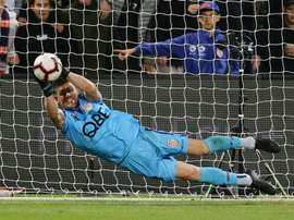 Liam Reddy made four saves in the shootout for Perth Glory. GOAL