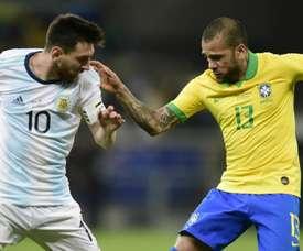 Dani Alves has criticised Lionel Messi's Copa America outburst. GOAL