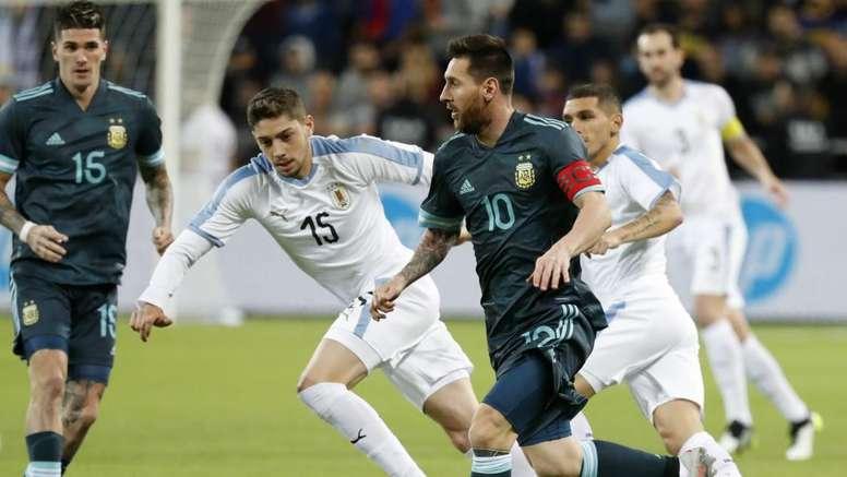 Amical - L'Argentine et l'Uruguay dos à dos. AFP
