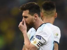 Di María elogiou a maneira como Messi liderou a Argentina na Copa América.