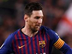 Messi joueur de la semaine en Champions League. AFP