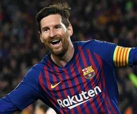 Messi a inscrit un doublé face à Manchester United. Goal