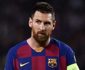 Messi si lega al Barcellona. AFP
