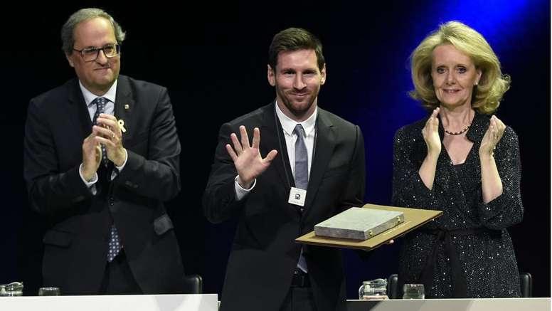 Messi riceve la 'Creu de Sant Jordi': solo Cruijff come lui da calciatore