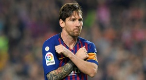 Lionel Messi Barcelona Sevilla La Liga. Goal