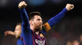 Messi a été élu joueur de la semaine. Goal