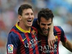 Cesc Fabregas tacle le Barça et lance un appel à Lionel Messi. afp