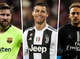 Messi à frente de CR7 e Neymar em ranking de celebridades mais bem-pagas de 2019.