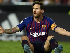 Messi has been left on the bench by Barcelona. GOAL