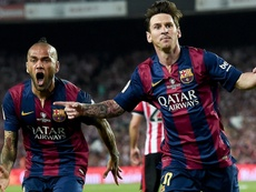 Alves was disappointed to lose his record. GOAL