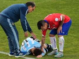 Medel agrediu Messi em 2015. Goal