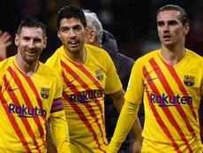 Luis Suarez raconte ses dîners avec Messi et Griezmann. Goal