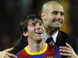 Guardiola souhaite que Messi reste au Barça. GOAL
