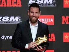 Sesta Scarpa d'Oro per Messi. AFP