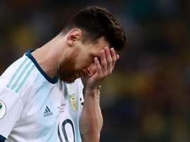 Messi was sent off for Argentina on Saturday. GOAL