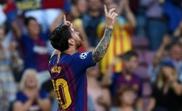 Messi scored three. GOAL