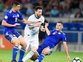 Paraguay drew 1-1 against Argentina. GOAL