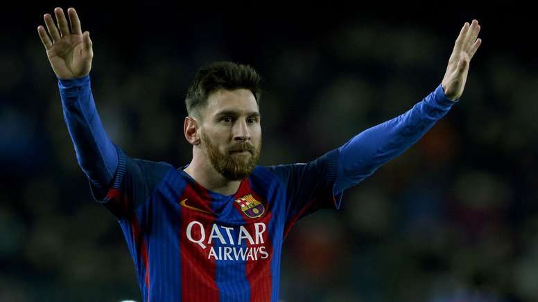 Lionel Messi celebrating a goal. Goal