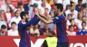 Busquets and Messi have both enjoyed stellar seasons. GOAL
