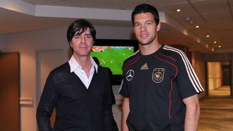 Ballack played under Löw for four years with Germany. GOAL