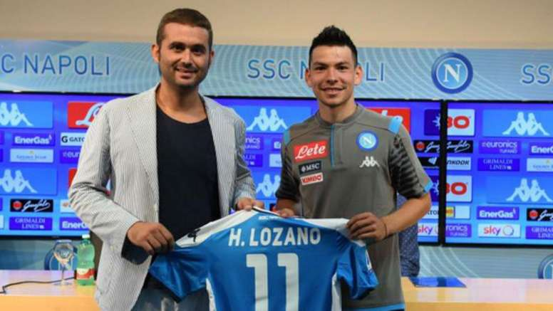 Lozano says he's delighted to become Napoli's first Mexican player. GOAL