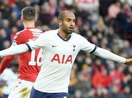 Lucas Moura is the main man up front for Tottenham, GOAL