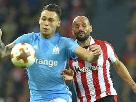 Ocampos, buteur pour Marseille. AFP