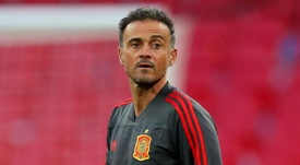Spain coach Luis Enrique 'looking on the bright side'. AFP