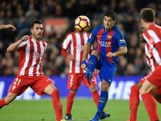 Luis Suarez, Barcelona - Sporting Gijon. GOAL