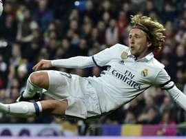 Luka Modric avec le Real Madrid lors du match de Coupe du Roi contre Séville. Goal