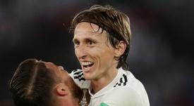 Modric opened the scoring. GOAL
