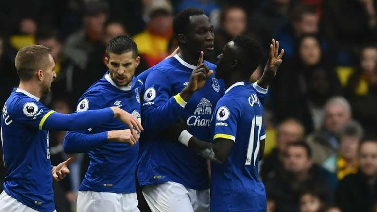 Lukaku celebrating his goal. Goal