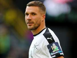 Podolski is being linked with a move to Malaysia after leaving Vissel Kobe. GOAL