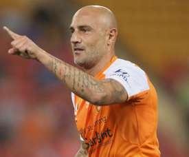 Maccarone rolled back the years for Brisbane Roar. GOAL